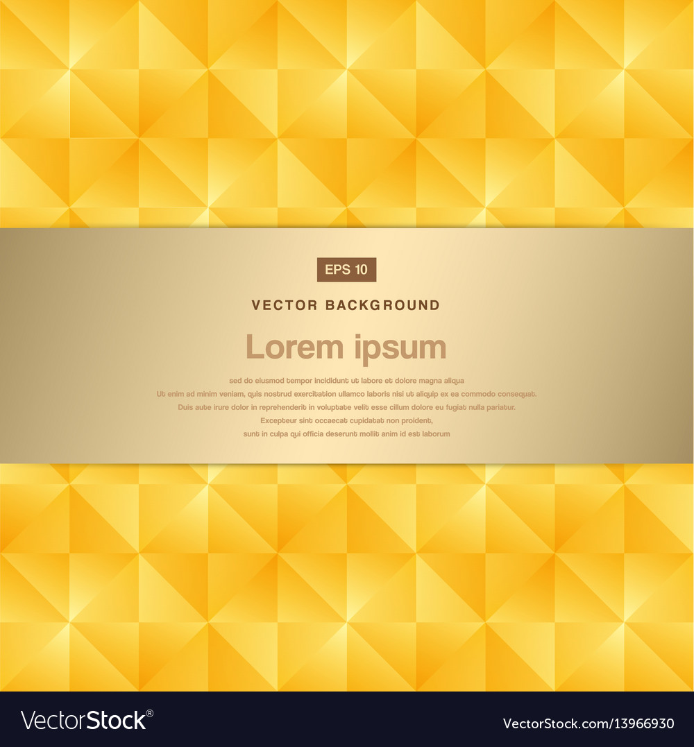 Abstract background modern luxury gold square