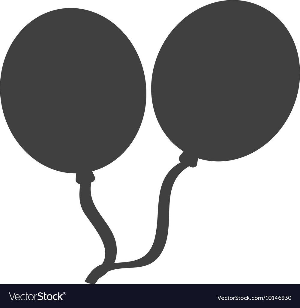 Balloon silhouette. Party celebration icon