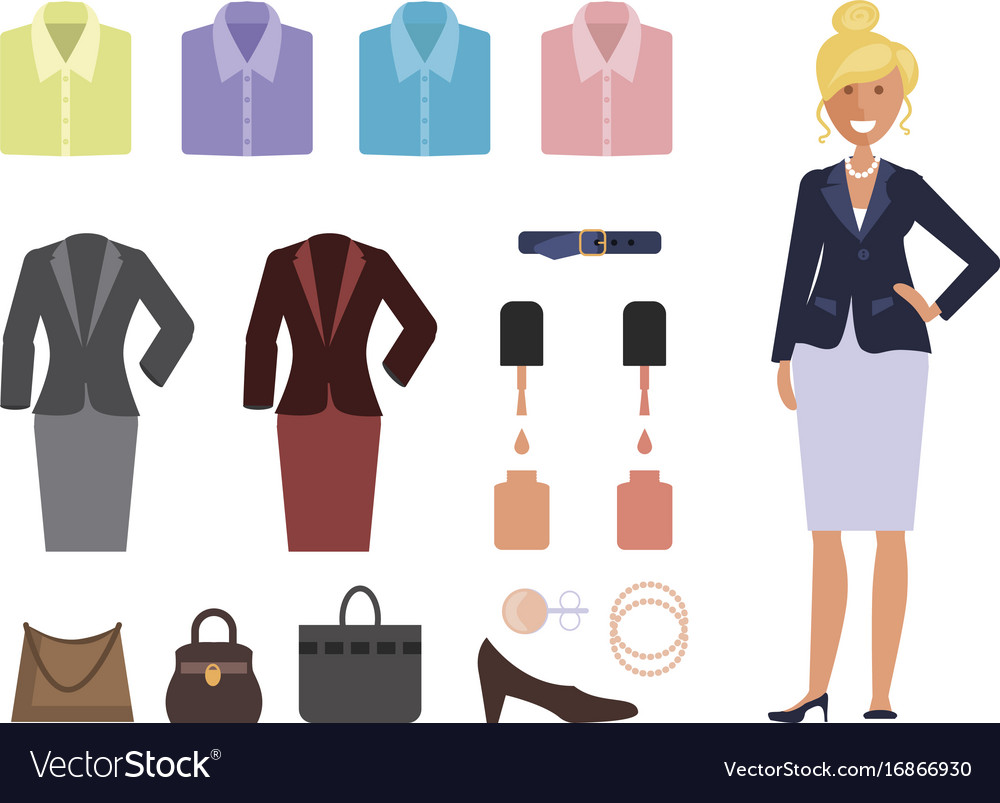 Business dress code Royalty Free Vector Image - VectorStock 1e9e4979d
