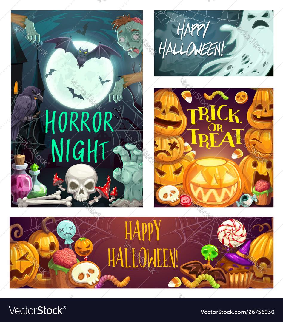 Horror night halloween party trick or treats