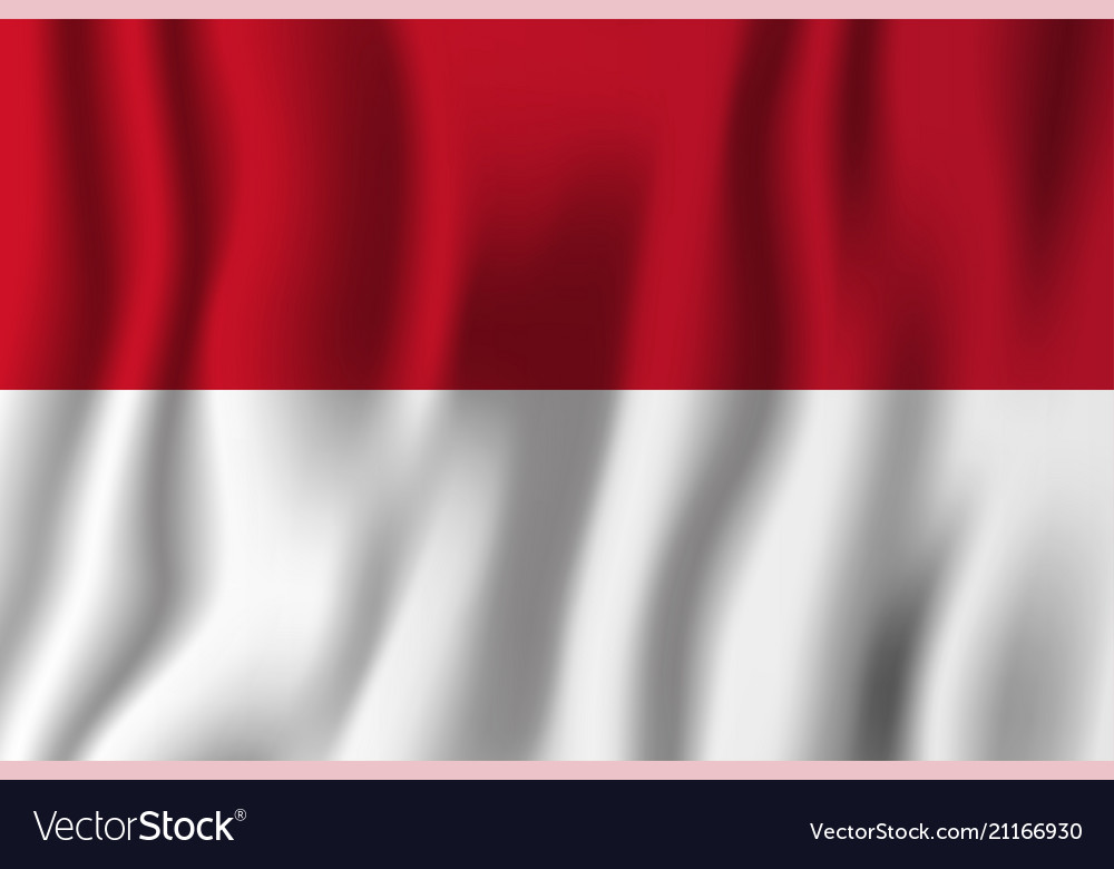 Indonesia realistic waving flag national country