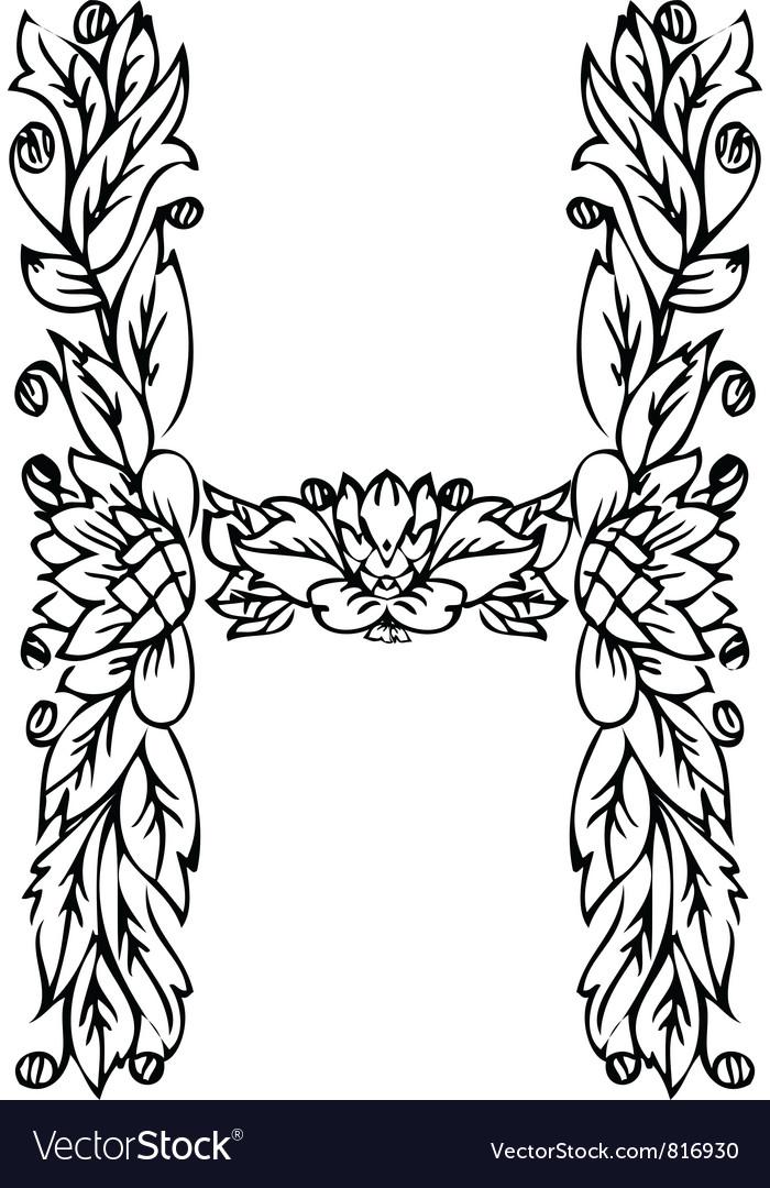 Letters Floral H