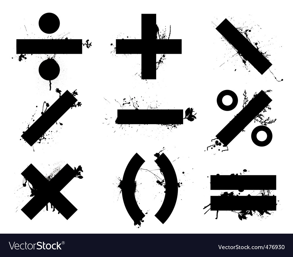 Math symbols royalty free vector image vectorstock math symbols vector image publicscrutiny Choice Image