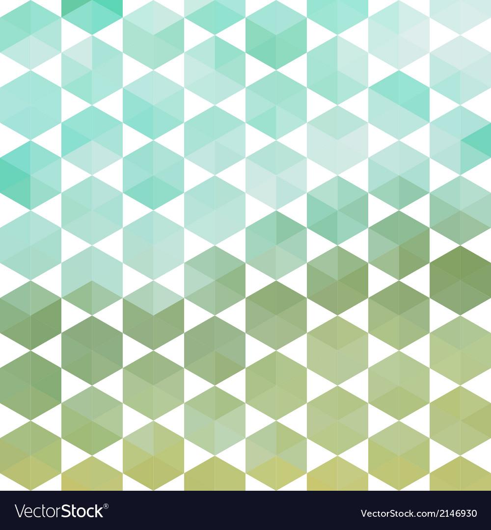 Retro pattern of geometric hexagon shapes Vector Image