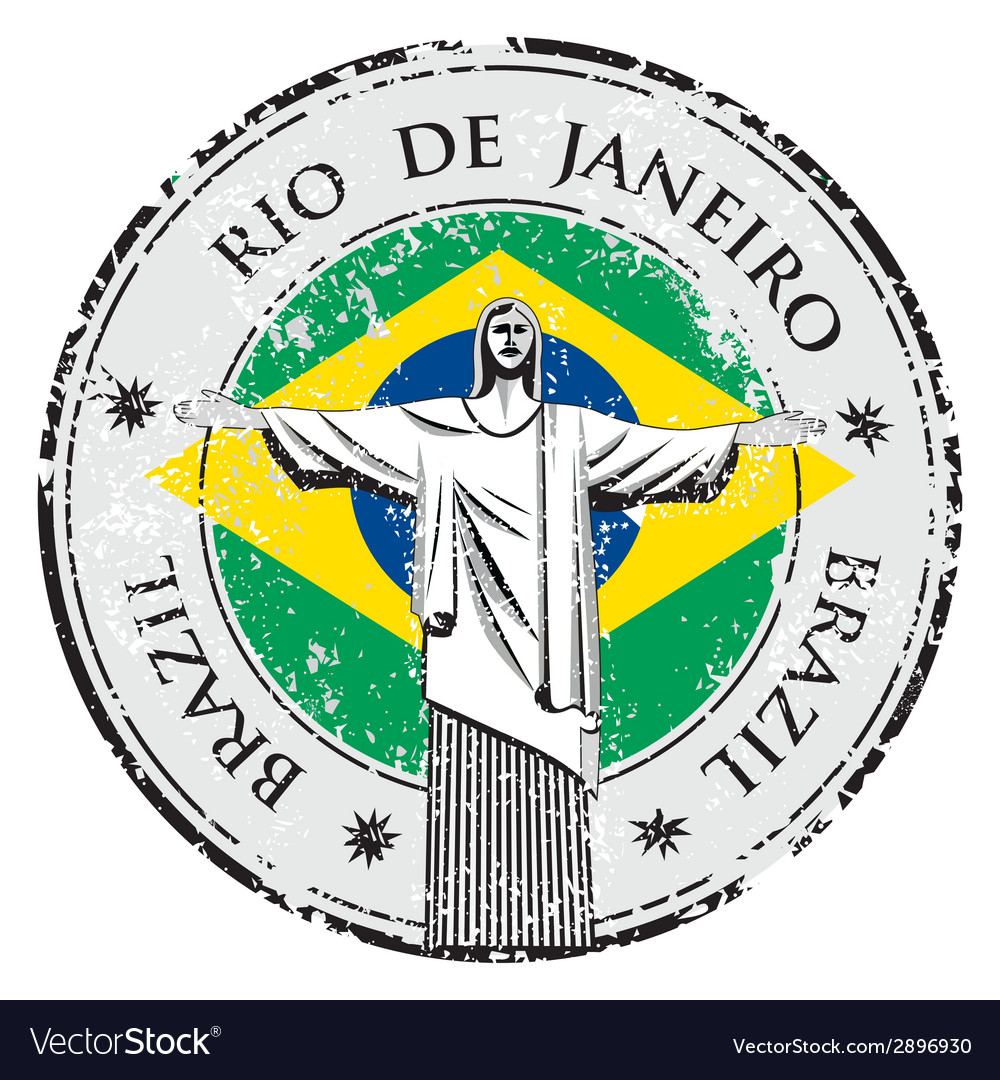 Rio theme stamp with statue of the Christ the Rede