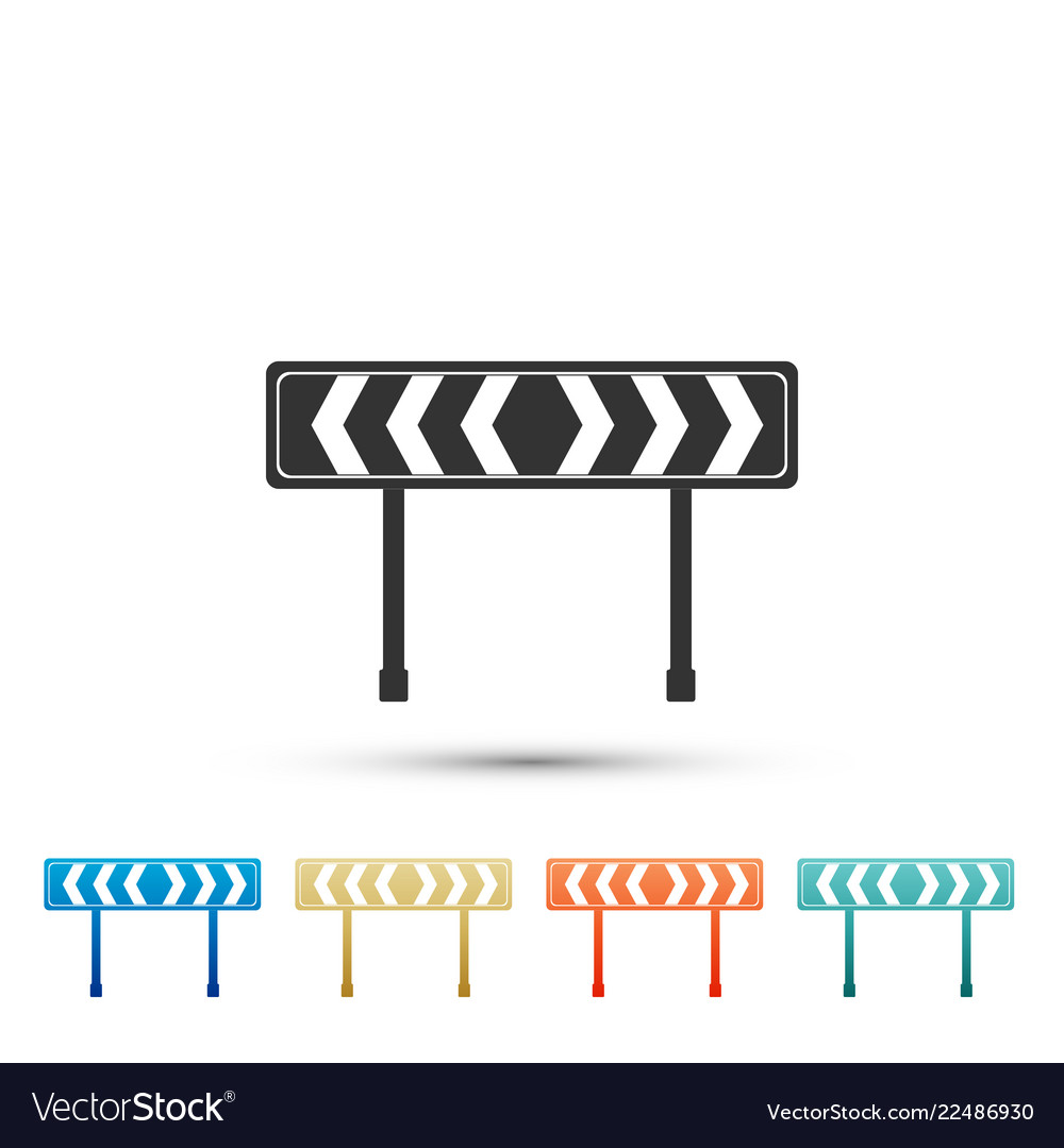 Safety barricade symbol icon traffic sign road