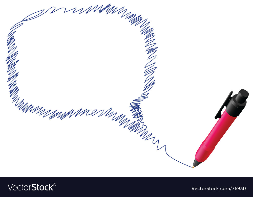 Scribble speech bubble vector