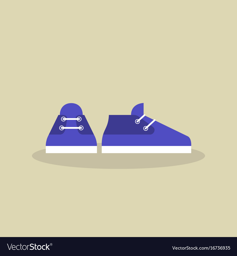 A pair of casual sport shoes icon flat vector image