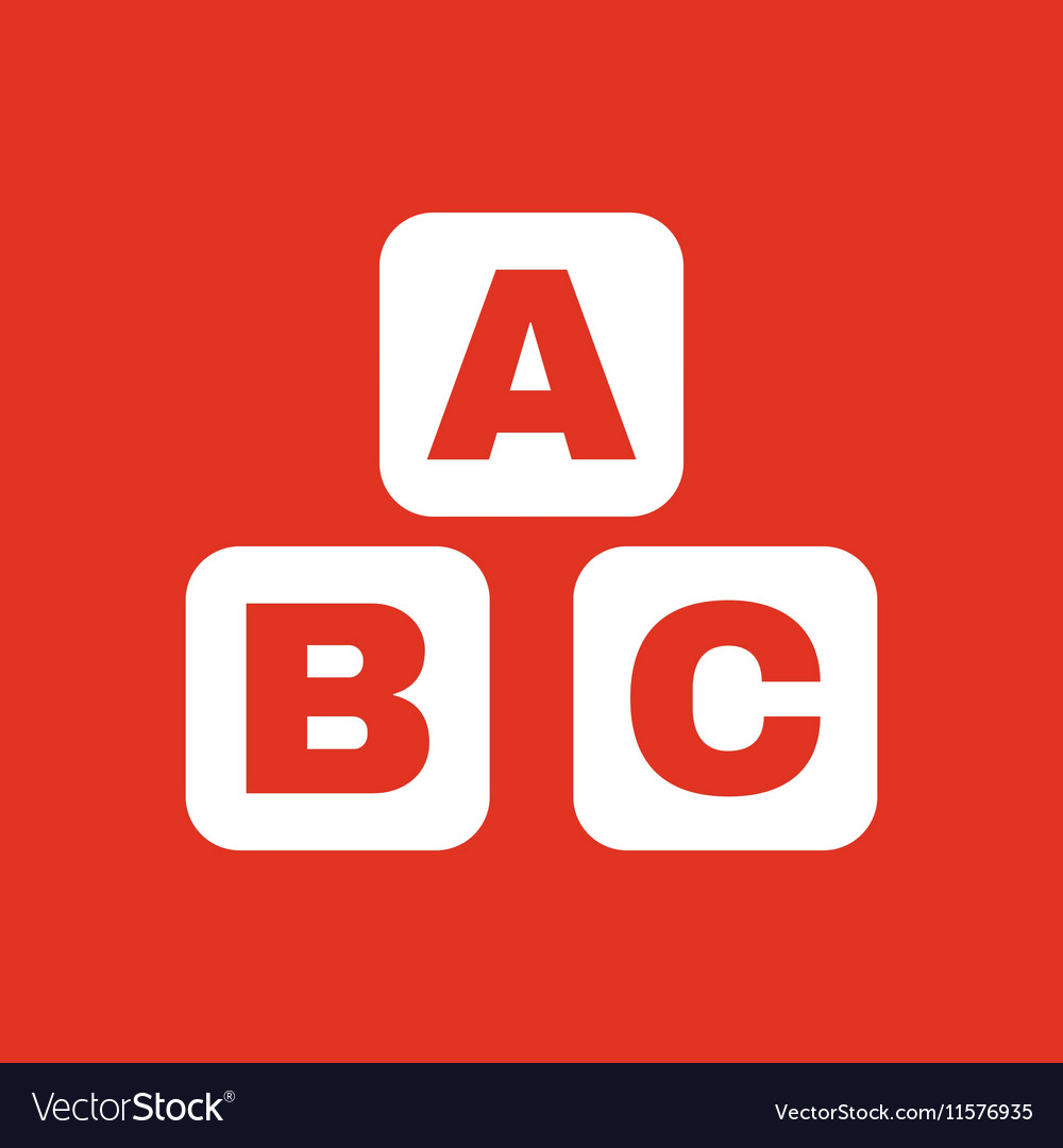 ABC building blocks icon ABC bricks design