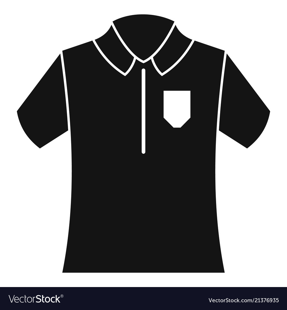 Bowling Polo Shirt Icon Simple Style Royalty Free Vector