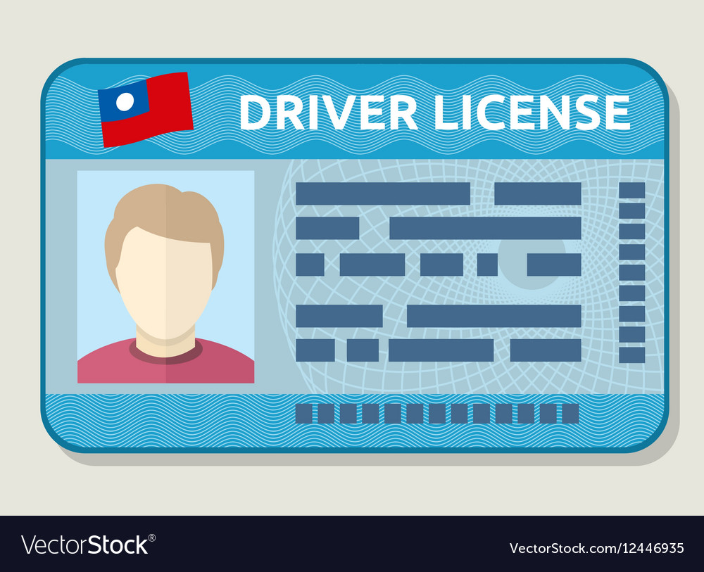 Car Driving Licence Identification Card Royalty Free Vector