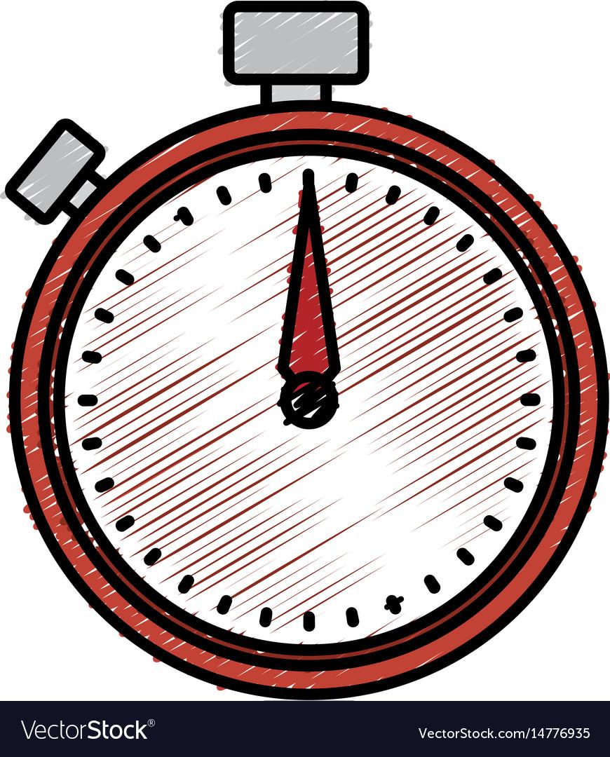 Chronometer device isolated icon