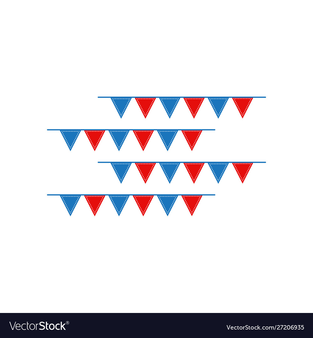 Circus flag graphic design template isolated