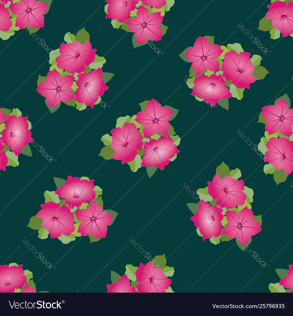 Floral seamless pattern decorative flower
