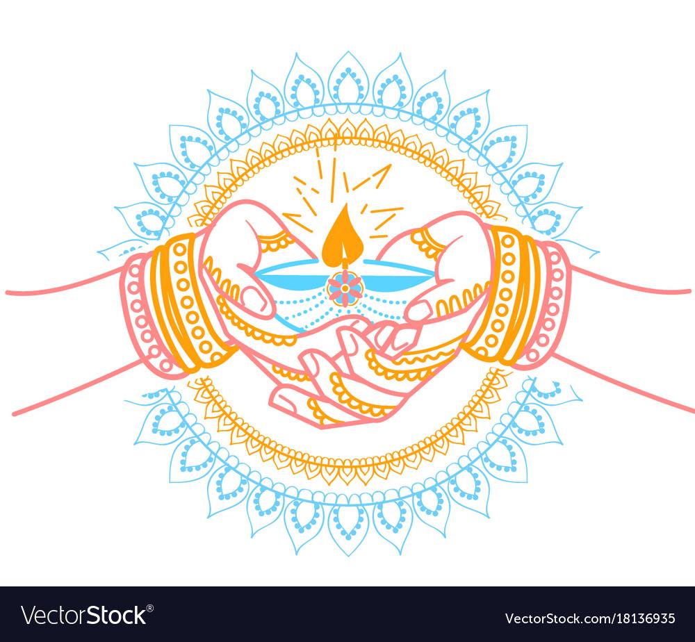 Indian holiday wedding vector image