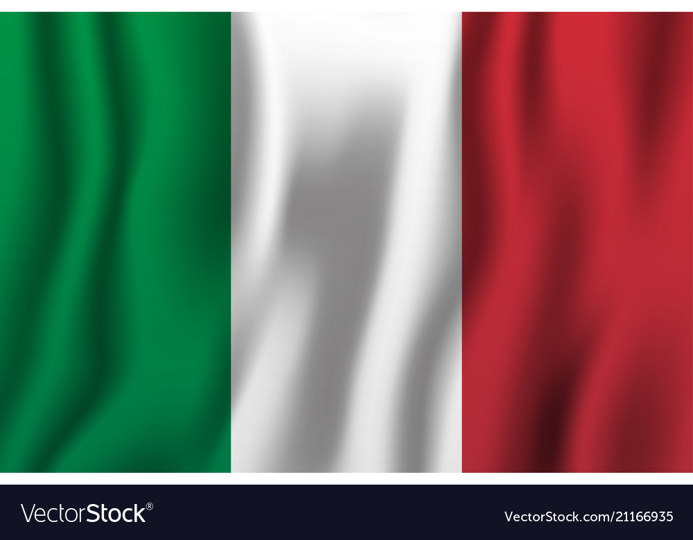 Italy realistic waving flag national country