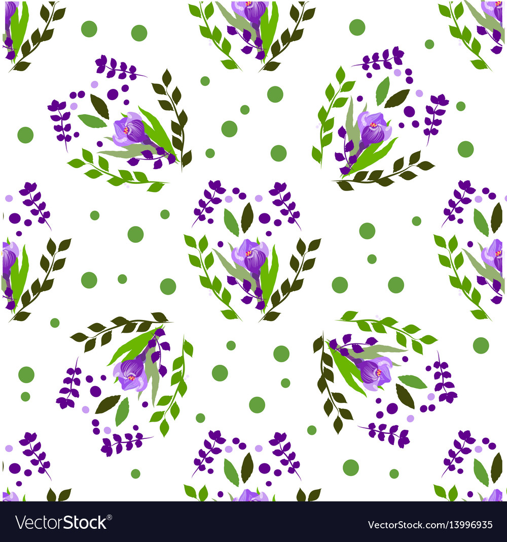 Seamless pattern floral stylish background
