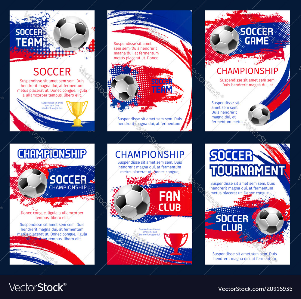 World soccer championship posters