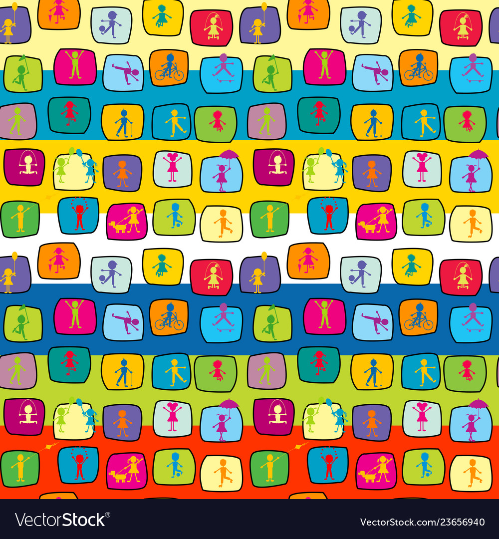 Abstract colorful seamless background with