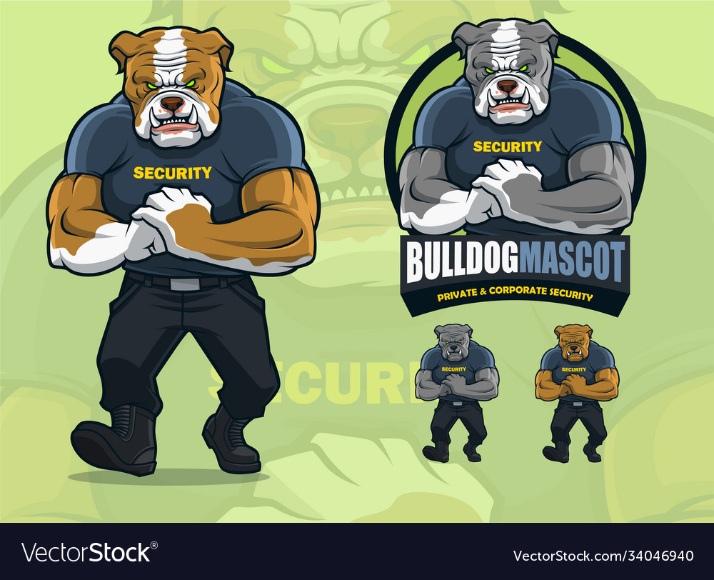 Bulldog mascot for security company with optional