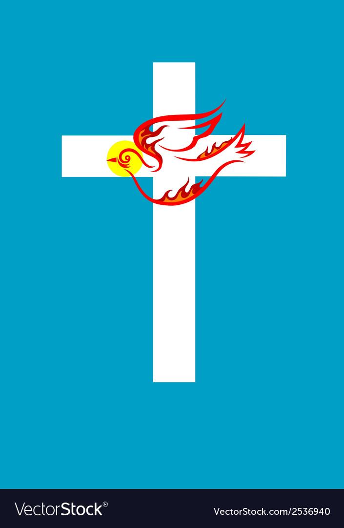 Cross n dove Holy spirit