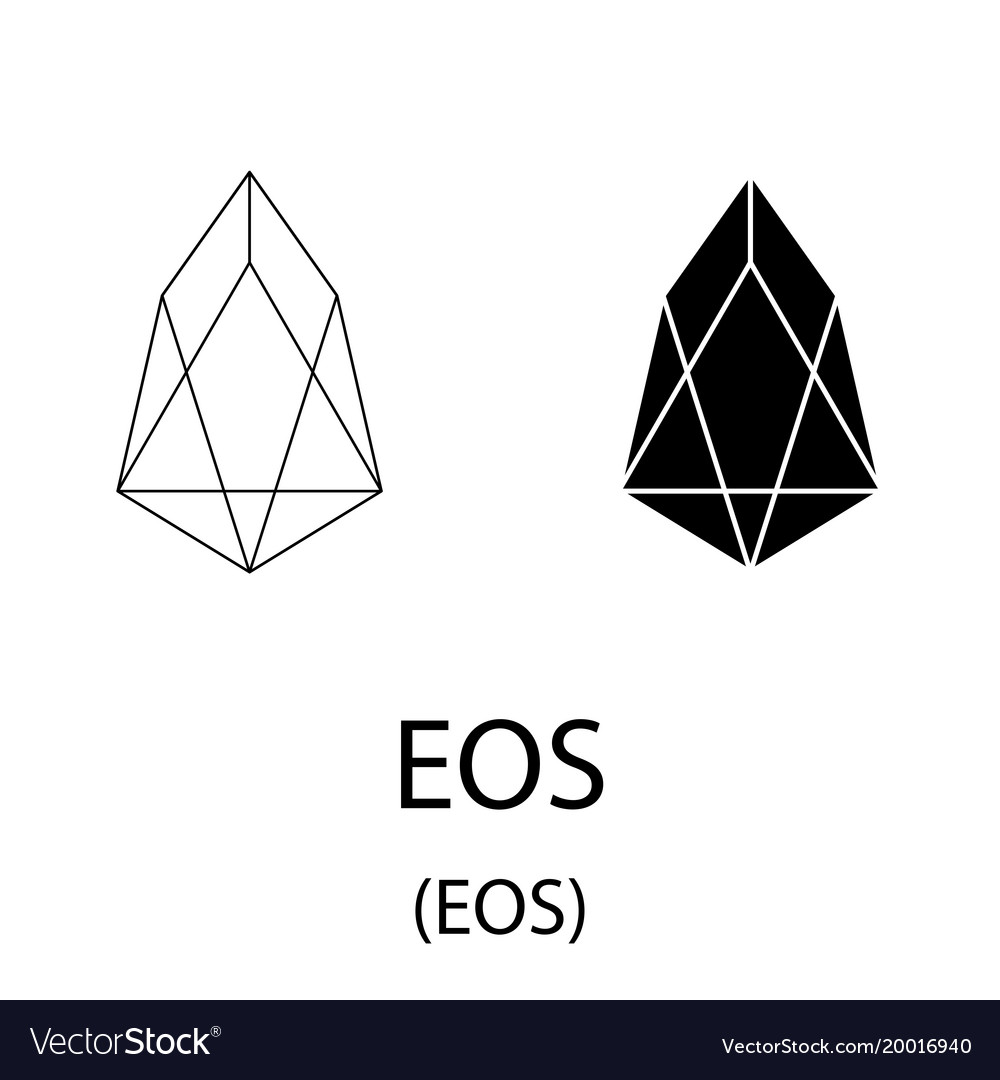 Eos black silhouette vector image