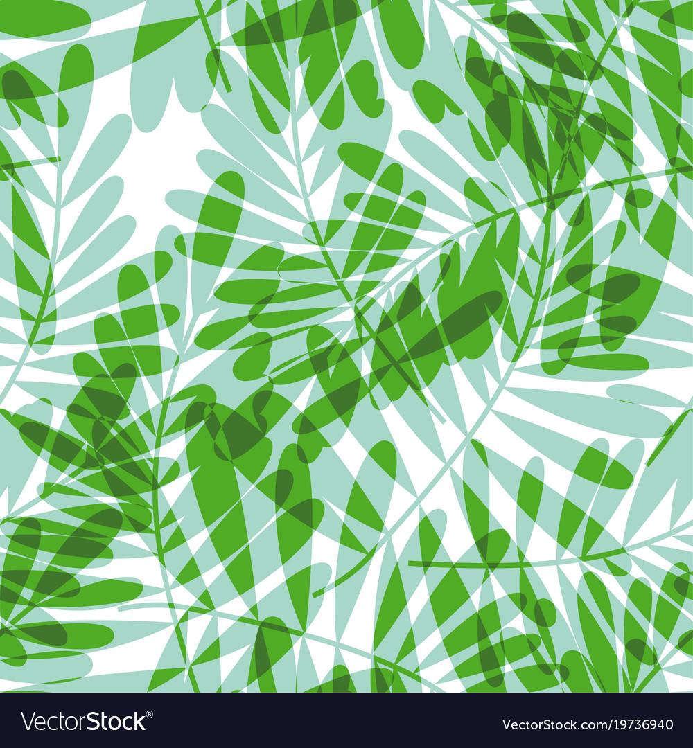 Green tropical seamless pattern