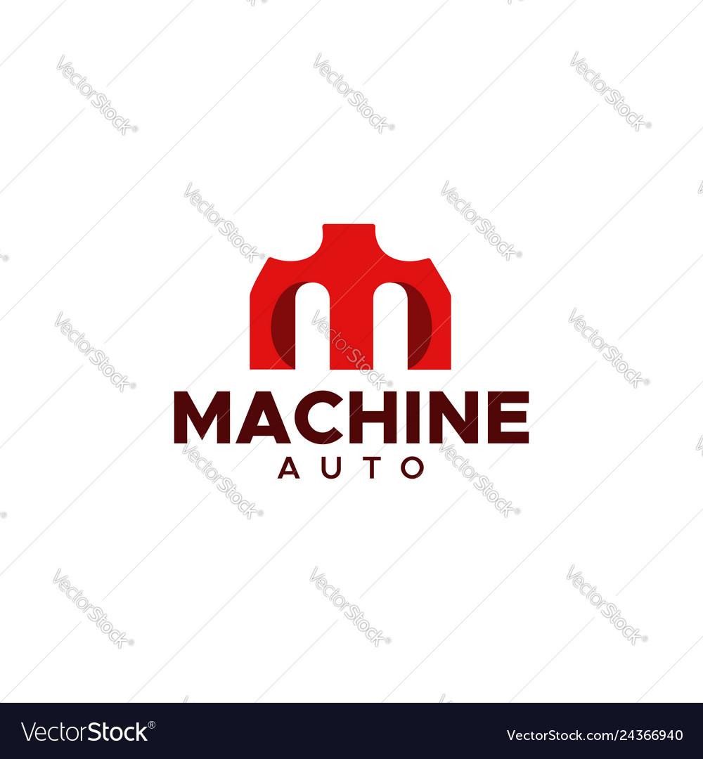 M machine auto logo