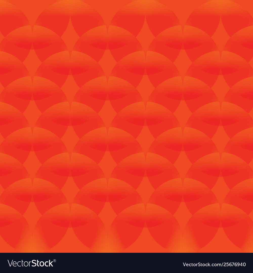 Red simple continuous circle pattern wallpaper