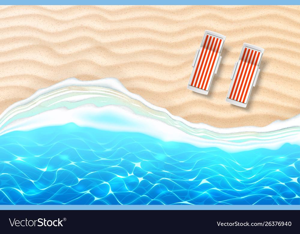 Seaside beach azure waves sand coast