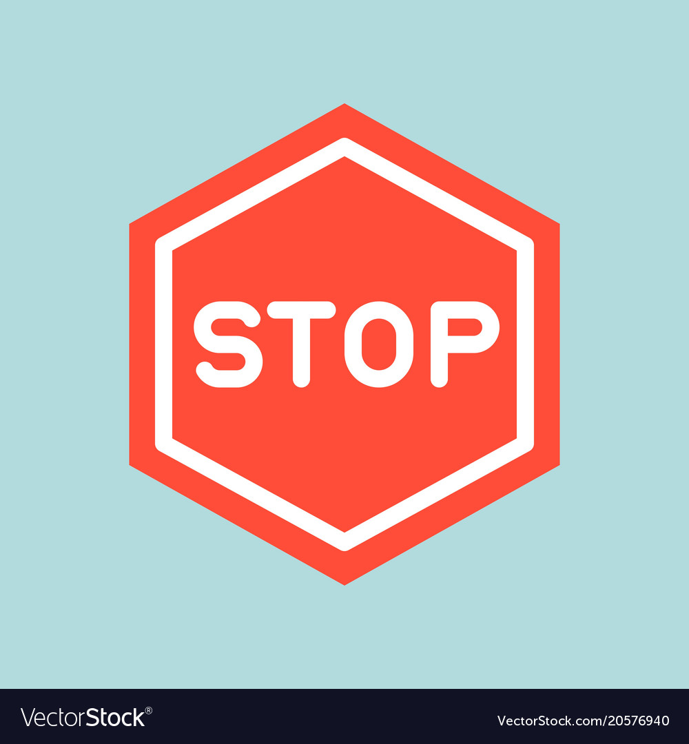 Stop sign icon traffic icon flat design