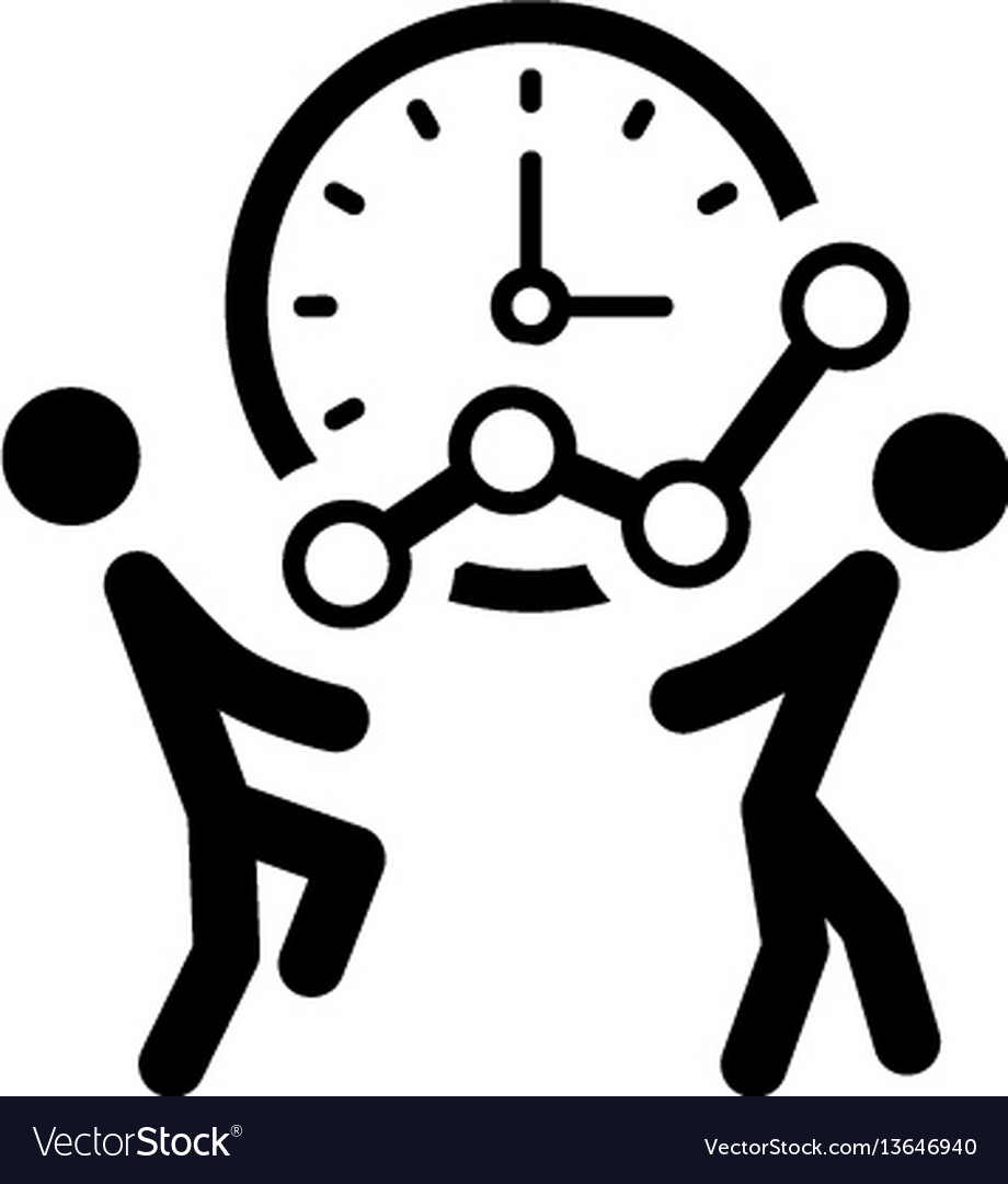Time for growth icon business concept