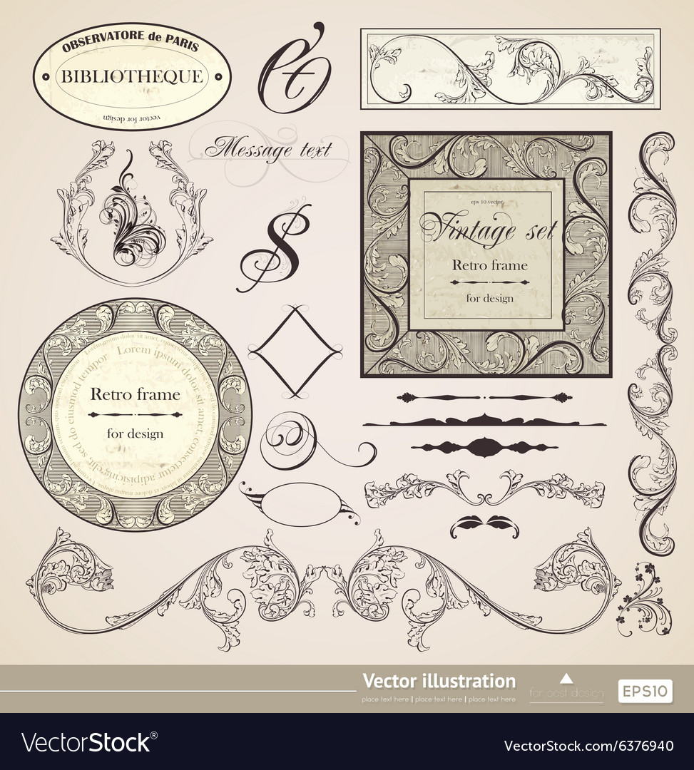 Vintage Calligraphic Set
