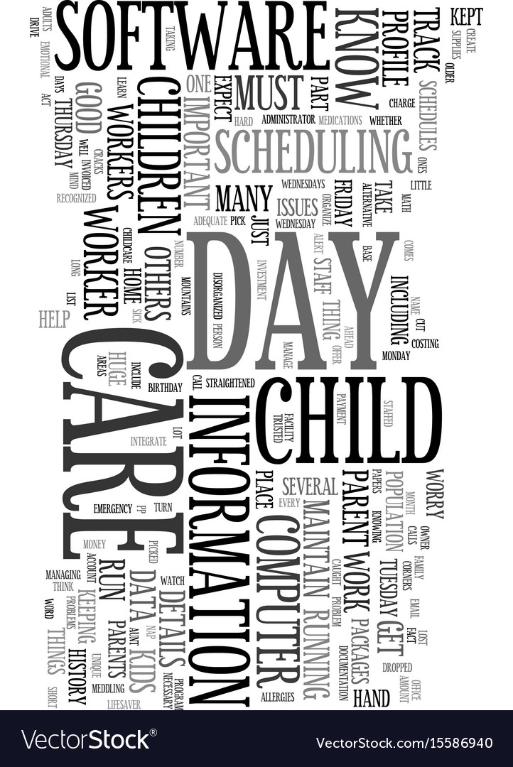 Your computer as day care worker text word cloud