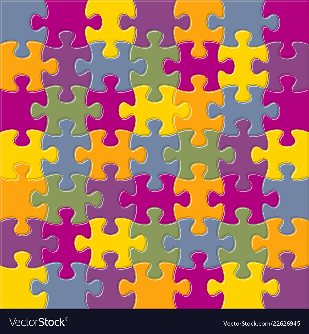 Background with joined jigsaw puzzle pieces