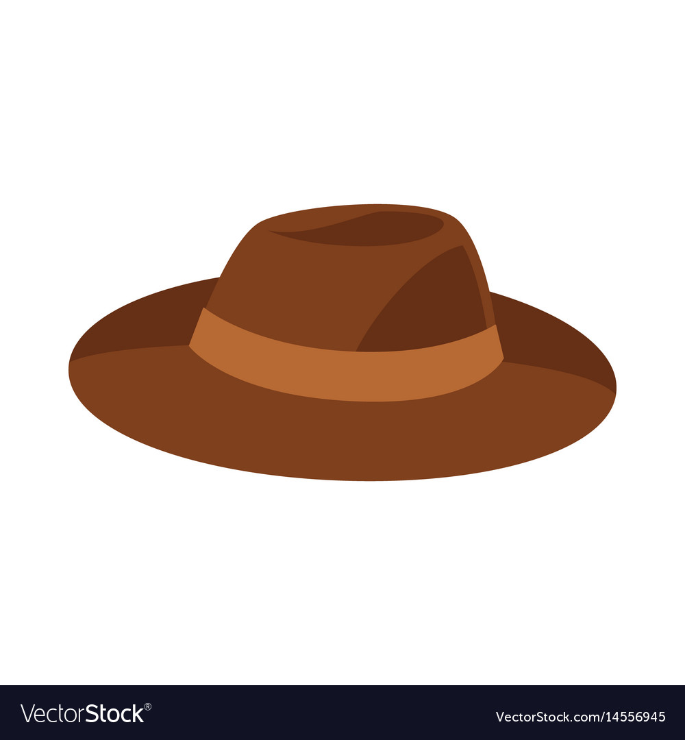 Brown hat isolated on white