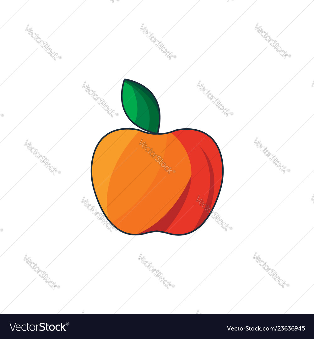 Color red apple icon