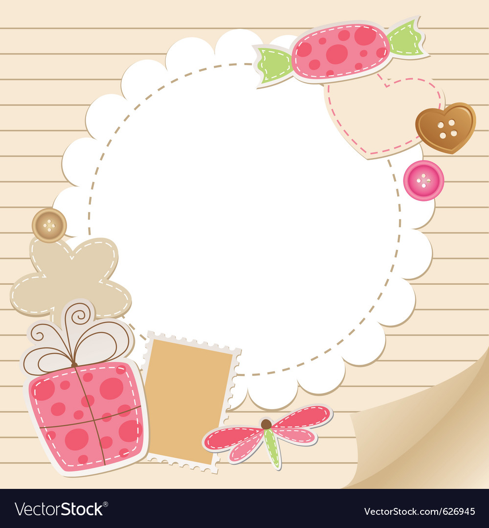 Cute vintage greeting card vector image on vectorstock cute vintage greeting card vector image m4hsunfo