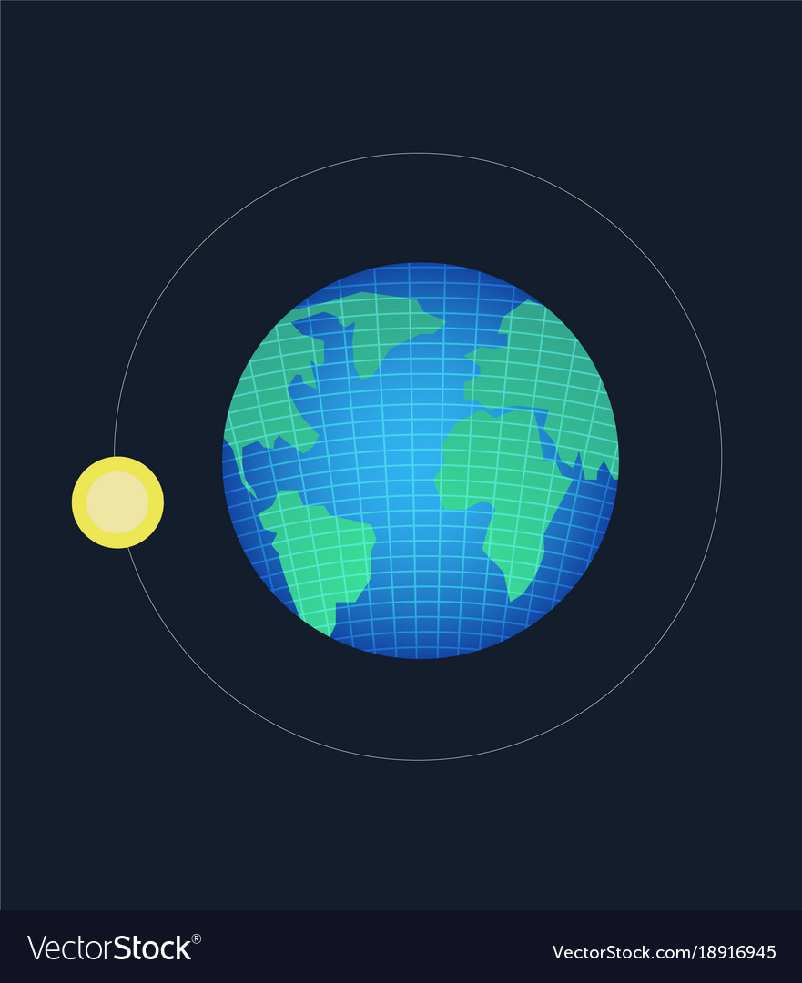 Earth planet with wireframe line and moon