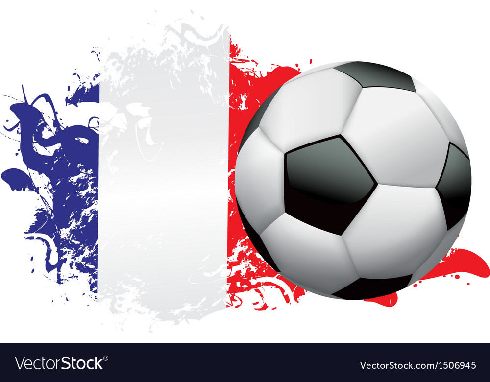 France Soccer Grunge