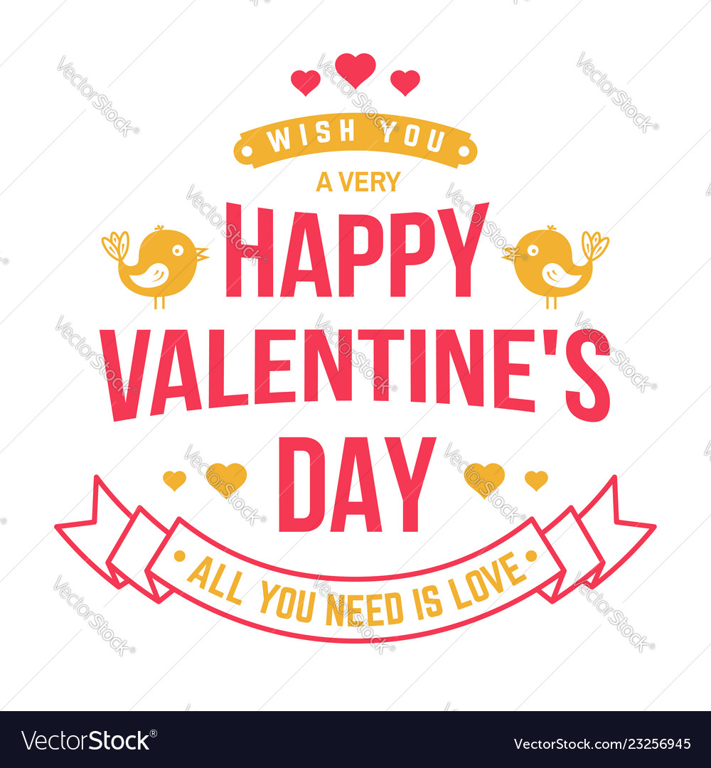 Happy valentines day stamp badge card