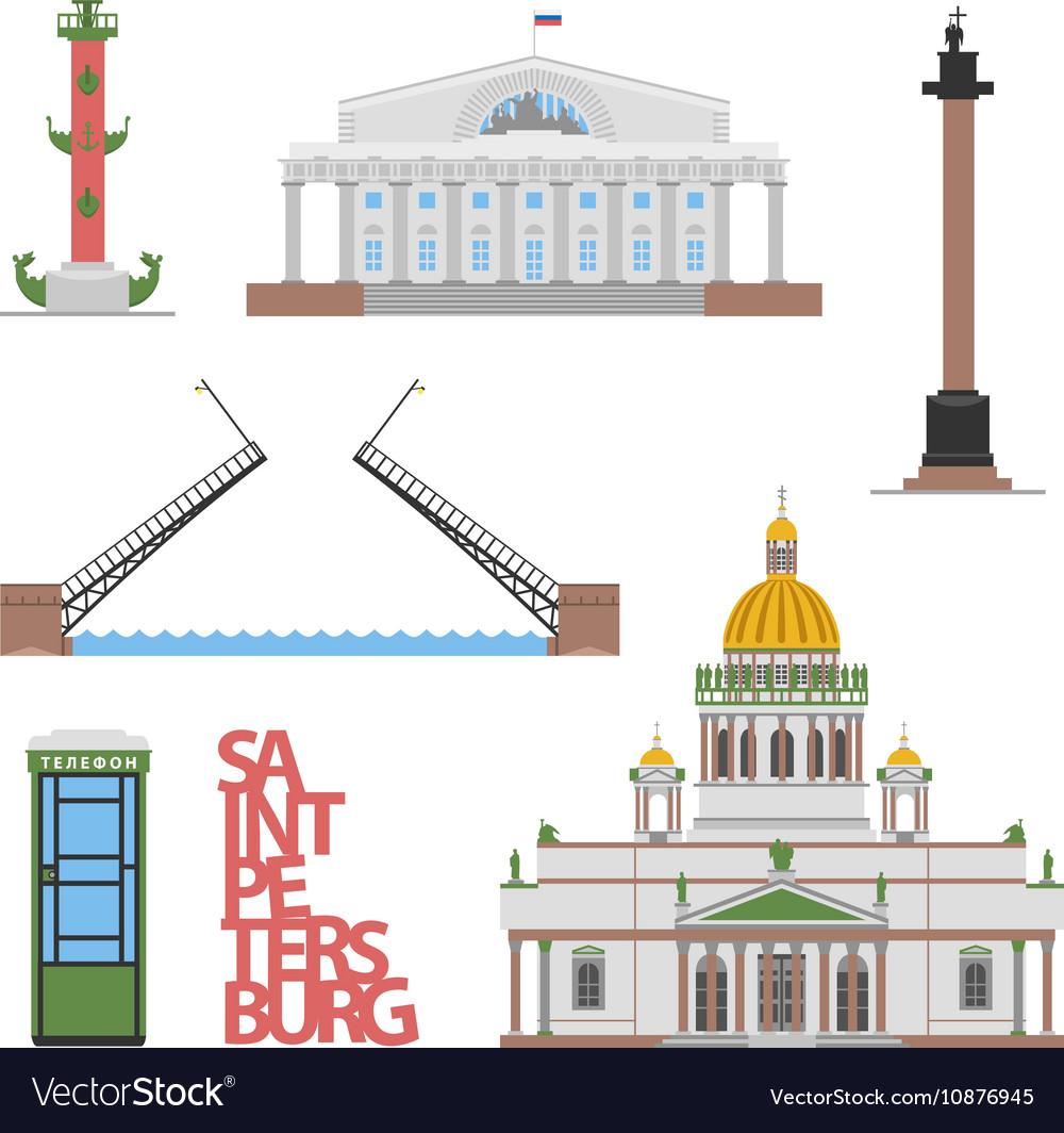 Saint-Petersburg flat cityscape