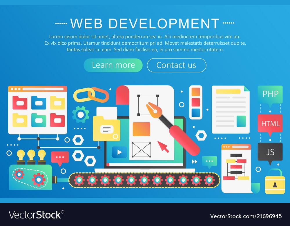 Trendy flat gradient color web development