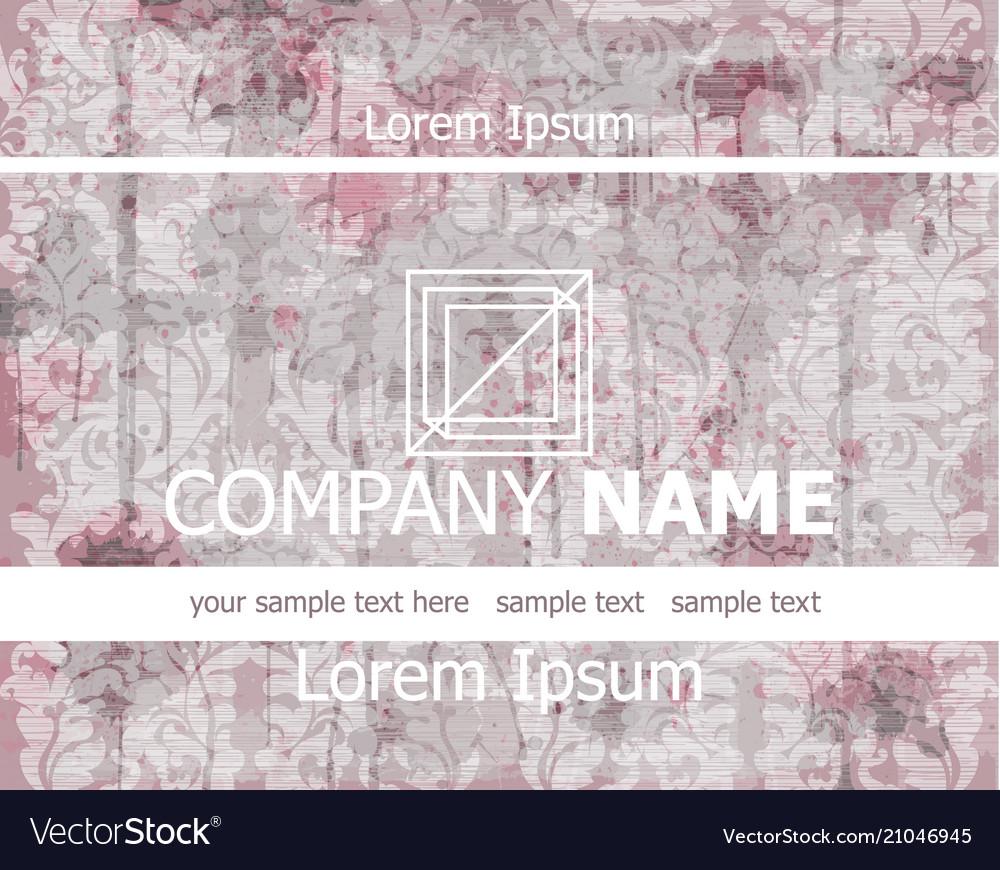 Vintage business card old paper background