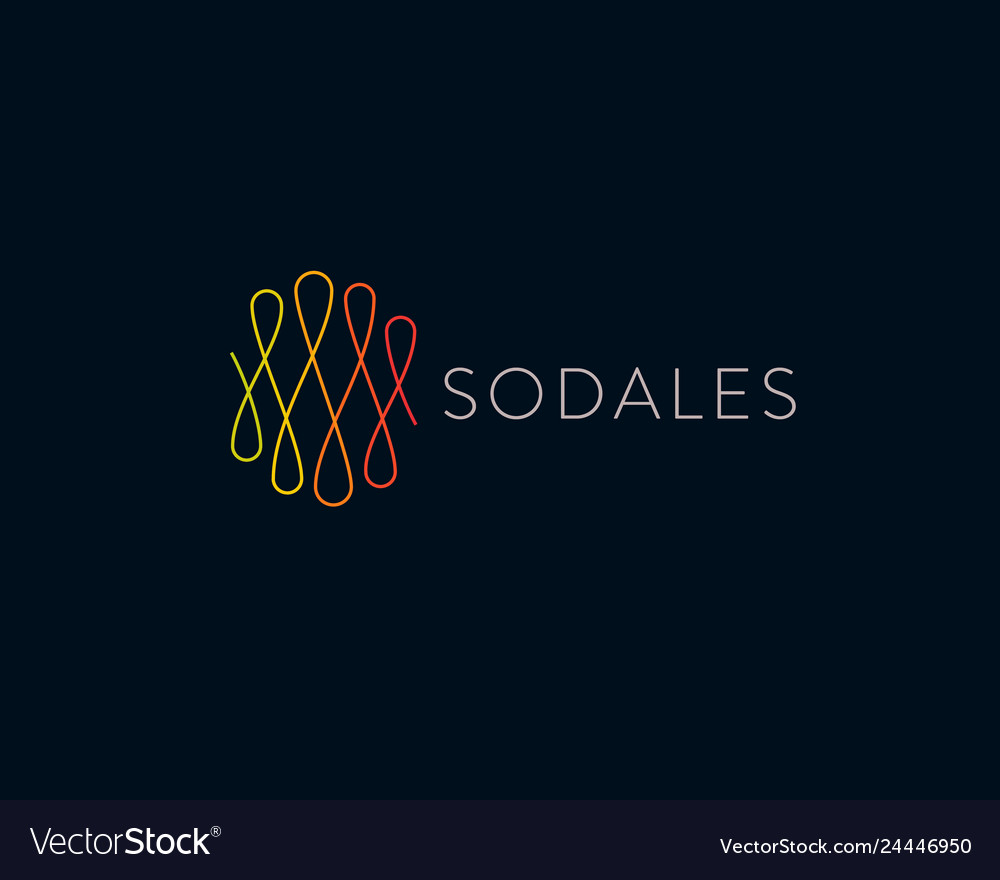Abstract linear loops logotype universal line