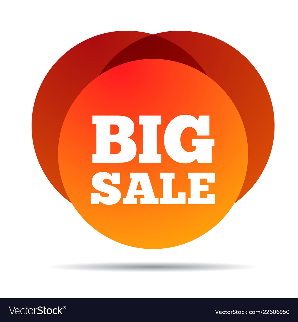 Big sale special offer price sign advertising