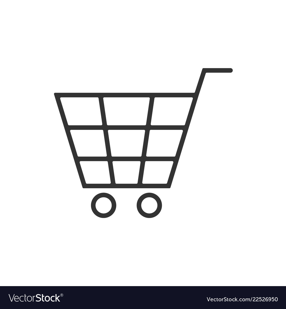 Cart line icon on a white background