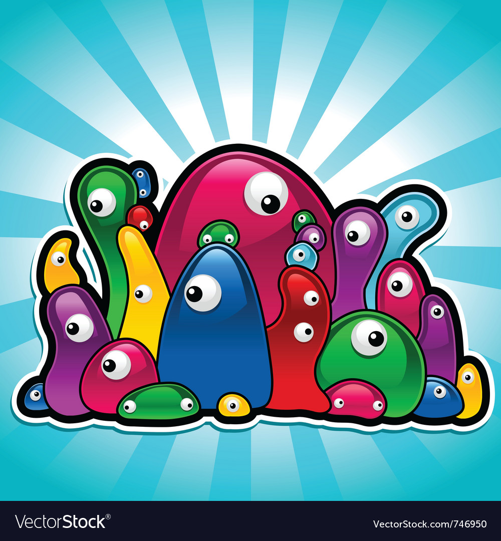 Colorful slimy party