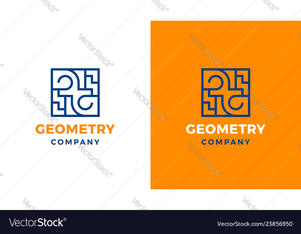 Geometric logotype template positive and negative