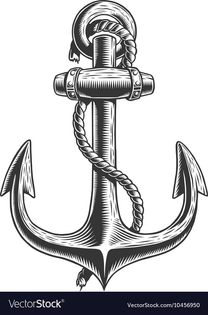 Old vintage anchor